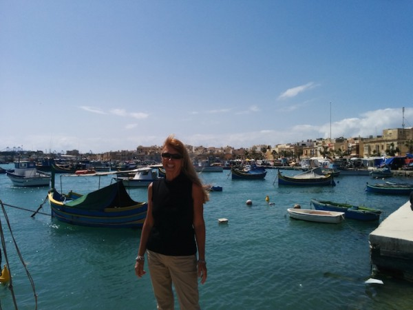 In Marsaxlokk harbor checking out the fishing boats