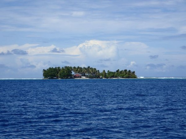 "One of the tiny islands that make up the ""necklace"" of islands that is Majuro atoll."